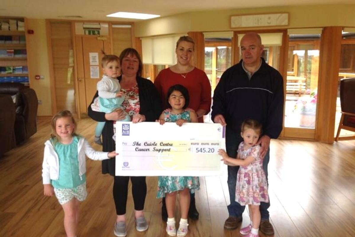 Cheque 2 Fundraising Cuisle Cancer Support
