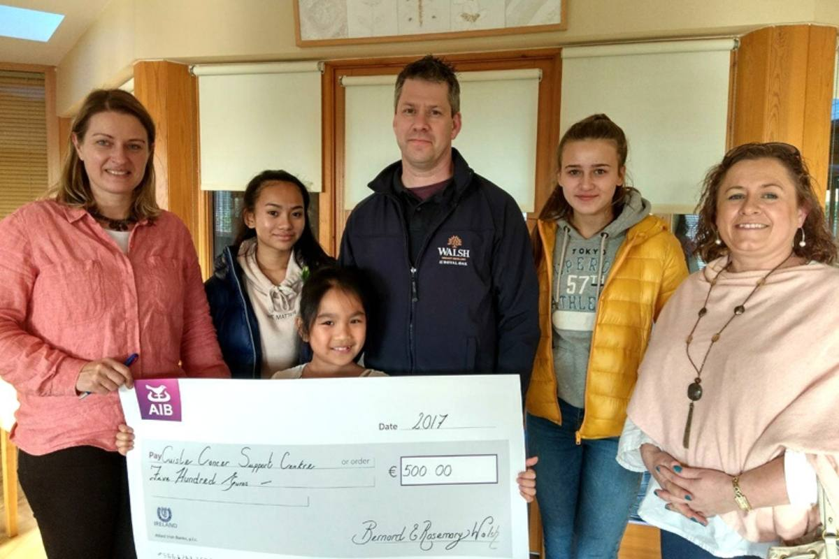 Cheque 3 Fundraising Cuisle Cancer Support