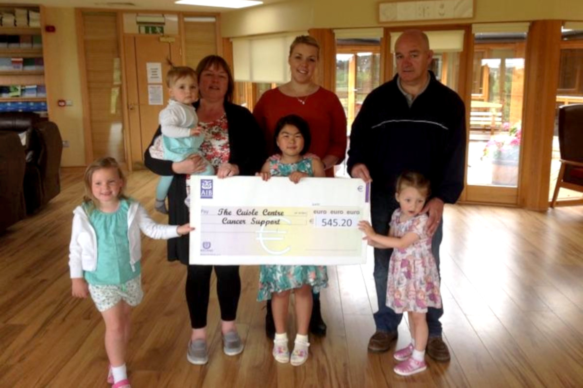 Cheque Presentation Cuisle Cancer Support